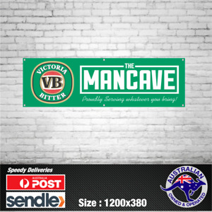 Victoria Bitter VB Aussie Beer Banner - The Mancave Bar Beer Spirits Shed