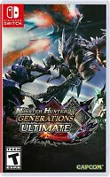 NINTENDO SWITCH MONSTER HUNTER GENERATIONS ULTIMATE BRAND NEW SEALED