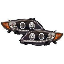 IPCW 2009-2010 Toyota Corolla Projector Headlights Black CWS-2033B2