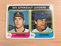 1973 Strikeout Leaders Topps Baseball Card #207 (Original)