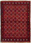 """Vintage Hand-Knotted Carpet 3'7"""" x 5'1"""" Traditional Oriental Wool Area Rug"""