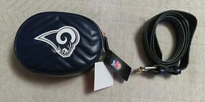 Los Angeles Rams Women's Fabgating by Cuce Shoes Quilted Belt Bag MC7 Navy NWT