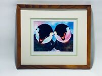 Stunning Happy Baby Penguins Alan Foxx Hand Signed & Numbered Graphic Painting