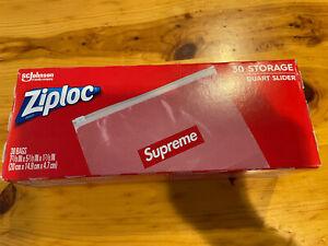Supreme Ziploc Bags (Box of 30 Count) 100% AUTHENTIC NEW