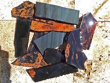 """18 Rough Obsidian Practice Slabs • Knapping Knife Arrowhead • 5-7"""" Length"""