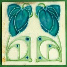 Jugendstil Fliese Kachel, Art Nouveau Tile, Tegel, Barratt, Fantasie Blume