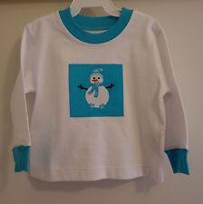 *NIB* Kelly's Kids Rya Snowman Patch Applique Shirt ~ Boy's Size 12 Month