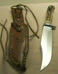 pre1964 ORIGINAL PUMA BOWIE 6396 w/ORIG. LEATHER SHEATH~HUNTING & FIGHTING KNIFE