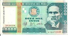 PERU, 10,000 INTIS, 1988 , UNC