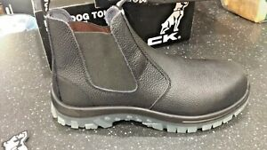 MACK TRADIE Work SAFETY Boots Pull on size Aus/Uk 10 Euro 44 Usa 11 LEATHER