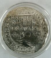 Pieces of Eight 1 oz .999 Silver pirate hammer struck 8 reales potosi 1690 repro
