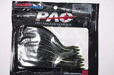 "damiki fishing baits boboss 5.8"" watermelon blk ribbed body bass lure 8 per pack"