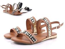 BAMBOO Tan Golden Sexy Ankle Strap Casual Womens Sandals Low Heels Szie 10