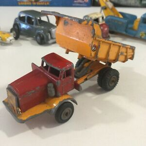 Vintage Budgie Models Yellow Red Euclid Tipper Dump Truck Die Cast 1:43 England