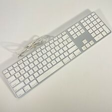 Apple Aluminum USB Wired Keyboard With Numeric Keypad A1243 EMC 2171 TESTED