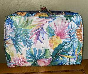 LeSportsac Hawaii Exclusive ULUWEHI XL Rectangular Cosmetic Bag, Tropical Flora