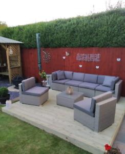 2.4m x 3.0 Tanalised Garden DIY Patio Decking Kit with Joists & fixing kit