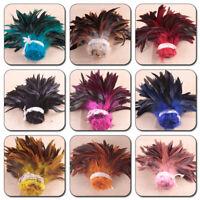 100PCS Craft Sinamay Hat Chicken Feathers Plumas Jewelry Making Decor Accessory