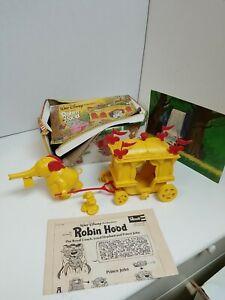Vintage 1974 Revell Disney Robin Hood Royal Coach, Elephant And Prince John