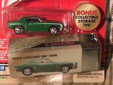 Johnny Lightning 1969 Green Camaro SS 396 Bonus Storage Tin Pro Collector Series