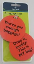 Protege Luggage Tags Set Of 2 Hands Off This Is MY Bag & Enough Baggage & Strap