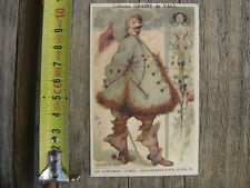 Chromo Decoupi Image ancienne GRAINS DE VALS les costumes Seigneur 1625
