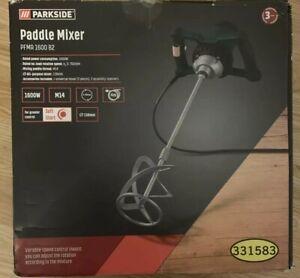 ✅✅✅Parkside Paddle Mixer 1600W Concrete Mortar Paint Mixer PFMR 1600 B2  New