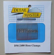 Hose Clamps 1:24 1:25 DETAIL MASTER CAR MODEL ACCESSORY 2480