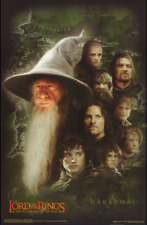 2001 Lord Of The Rings Gandalf & Friends Poster Movie #3524 New Sealed