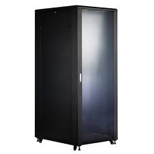 Server Rack 18u ( 1 MT H ) 600 W X 800 D Glass Door Rack Cabinet Patch Panel