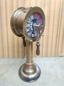 Vintage 20 inch Brass Antique Ship Marine Engine Room Bell Sound Telegraph Decor
