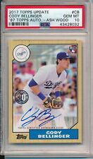 Cody Bellinger Dodgers 2017 Topps Update Rookie RC 87 Topps Auto Ash Wood PSA 10