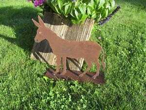 Edelrost Esel klein Tiere Rost Esel  Rost Deko Metall Rost Tiere  Weihnachtsdeko