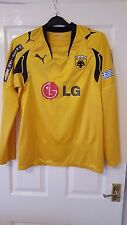 Mens Football Shirt - A.E.K. Athens - Puma Home 2007 Sponsored - Long Sleeve #2