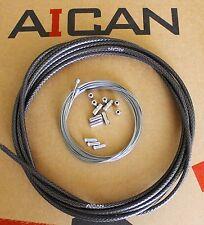 Aican REACTION bike bicycle SHIFT DERAILLEUR cable housing set kit ASHIMA,Black