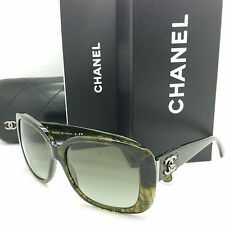 NEW CHANEL Sunglasses 5234 Q 1394/3M 57 CC Dark Green Tortoise GENUINE Large