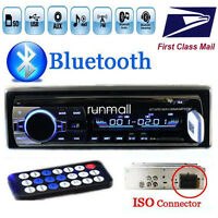 Car Radio BT Stereo Head Unit MP3/USB/SD/AUX/FM 1 DIN In dash For IPOD
