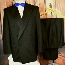 Charlton Gray Mens Black Dinner Suit Tuxedo / 40R W32 L30.5