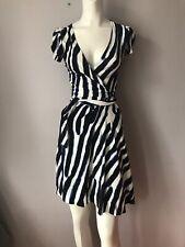 Diane Von Furstenberg Stripe Wrap Dress Stretch Women's Sz 2/XS,S/