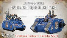 OOP 40K WHW Limited Edition Space Marine Command Primaris Land Raider Excelsior