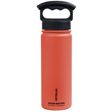 Fifty/Fifty 18oz Coral Insulated Stainless Steel Water Bottle 3 Finger Lid
