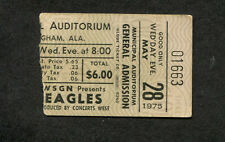 Original 1975 Eagles Concert Ticket Stub Birmingham AL One Of These Nights