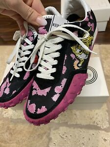 kenzo women shoes Floral Tiger Sneakers Size 7 With Box
