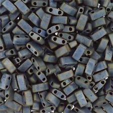Miyuki Half Tila 2 Hole Rectangle Glass Seed Beads 5x2.3mm 7 Grams tube U-Pick