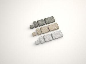 Pflasterplatten, Pflastersteine 10 x 10 x 7 cm in Grau, Gelb und Anthra Grau