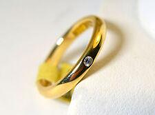 Women 18K Gold Wedding Band Tiffany & CO Elsa Peretti 750 With Single Diamond