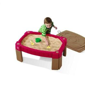 Naturally Playful Sand Table and Water Activity Table Outdoor Sandbox Toy Gift