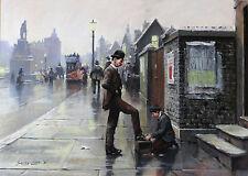 1981 | John SEEREY-LESTER | Shoe Shine | EDWARDIAN london ORIGINAL large pastel