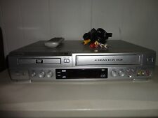 SANYO DVW-6100 DVD VCR Combo Player 4-Head HI-FI VHS Recorder W/ Remote&cables!