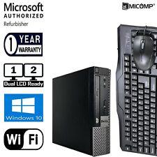 Dell 9010 Small Desktop Computer PC Windows 10 Pro 120GB SSD WiFi DUAL LCD READY